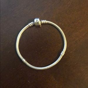 Authentic Pandora bracelet barley worn